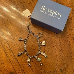 Lia Sophia party girl charm bracelet NWT